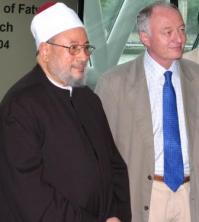 Sheikh al-Qaradawi with Mayor Livingstone